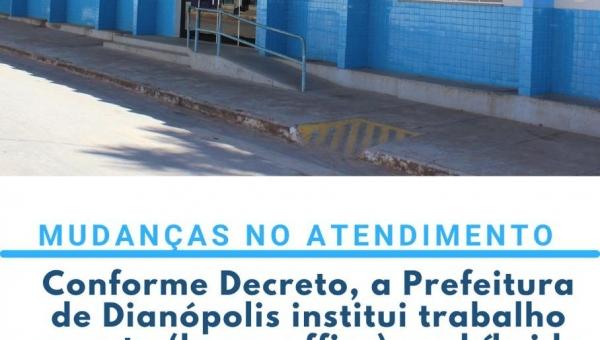 PREFEITURA INSTITUI TRABALHO REMOTO E HÍBRIDO AOS SERVIDORES PÚBLICOS MUNICIPAIS ATÉ 06 DE ABRIL