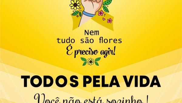 """Dia Mundial de Prevenção ao Suicídio é lembrado com o tema da campanha em alusão ao setembro amarelo """"Nem tudo são flores: é preciso agir""""."""
